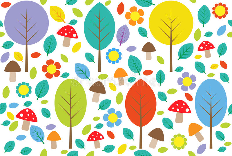 Download Forest stock vector. Illustration of colorful, color - 20043239