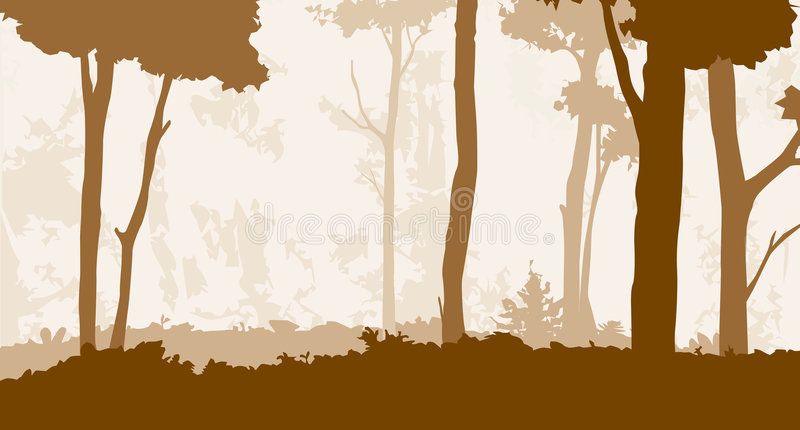 Forest 3 stock illustration