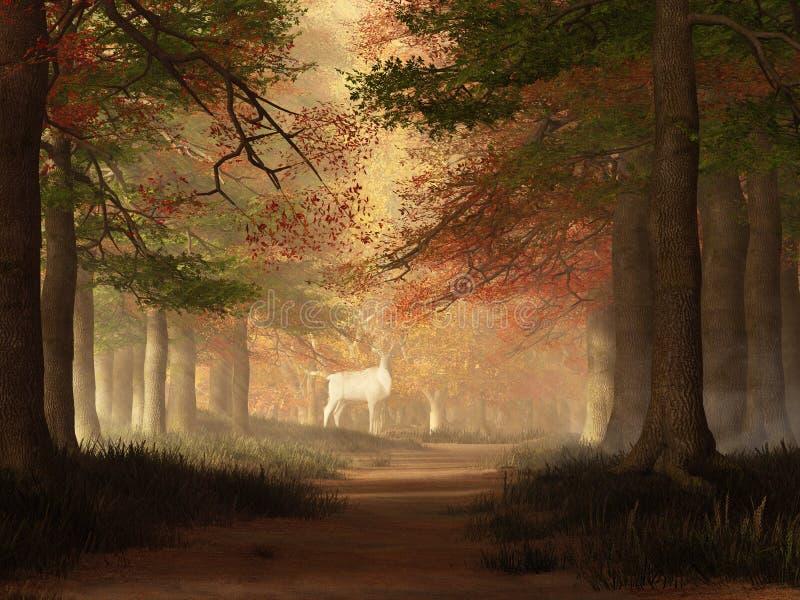 The White Elk royalty free illustration