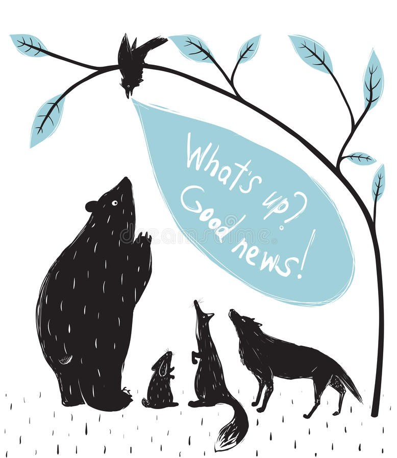 Forest Animals News Meeting vektor abbildung