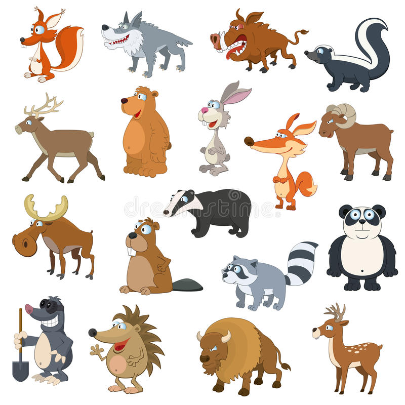 Free Forest Animals Set Royalty Free Stock Photography - 33702997