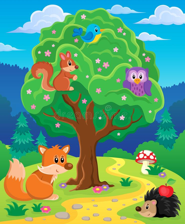 Free Forest Animals Topic Image 3 Royalty Free Stock Photos - 53459578