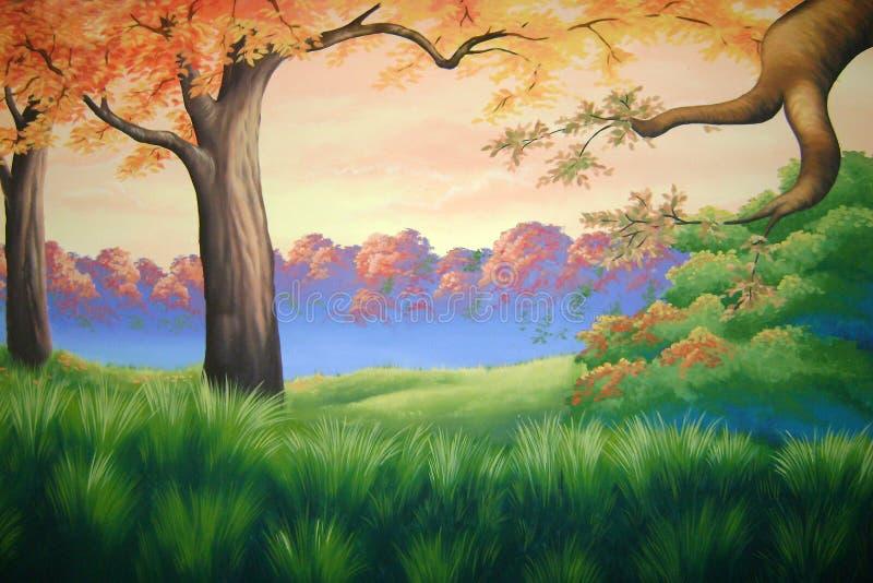 Forest background stock illustration