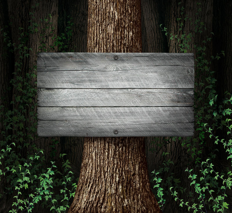 Forest Blank Sign royalty-vrije illustratie