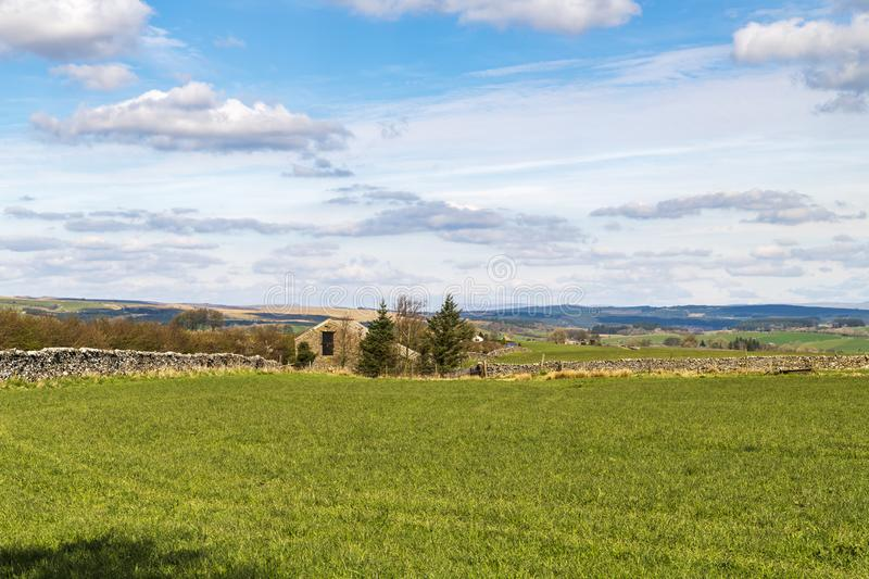 Forest of Bowland. Looking across farmland in the Forest of Bowland,Lancashire, towards North Yorkshire. England royalty free stock images