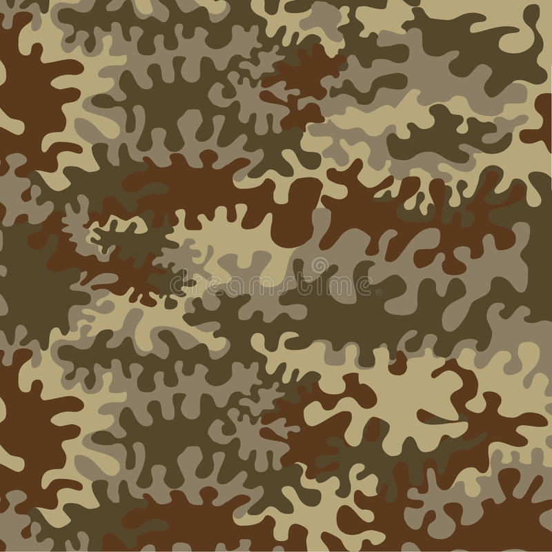 Forest Camouflage inconsútil ilustración del vector