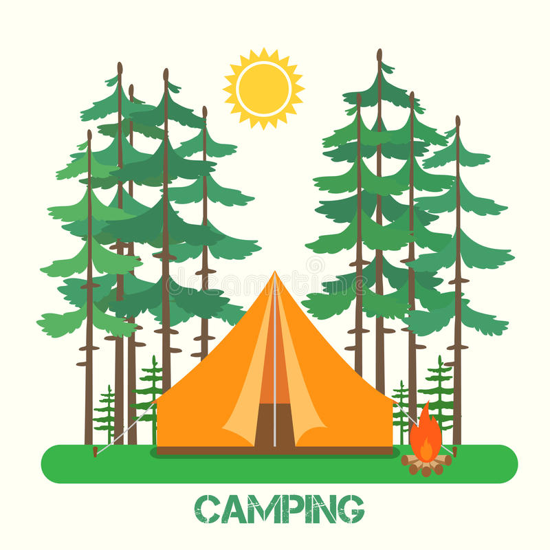 Forest Camp photographie stock