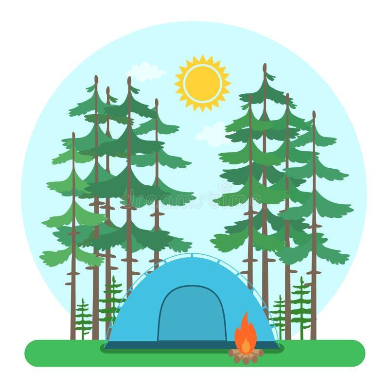 Forest Camp libre illustration