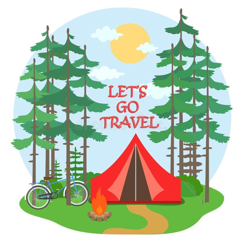 Forest Camp illustration de vecteur