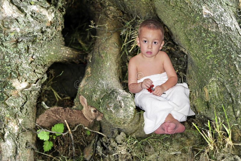 Forest Child fotografia stock