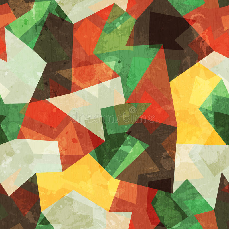 Forest color seamless pattern stock illustration