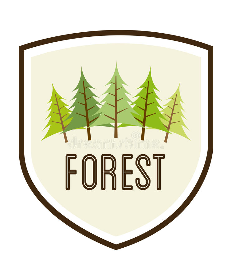 Download Forest Design ilustración del vector. Ilustración de orgánico - 42427259