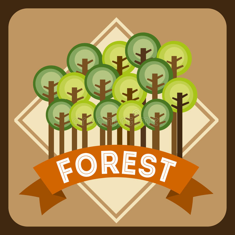 Download Forest Design ilustración del vector. Ilustración de elemento - 42427327