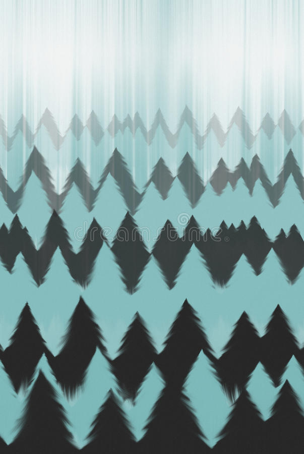 Forest design. An illustration/design of a forest in muted colours, suitable for a background or print stock illustration
