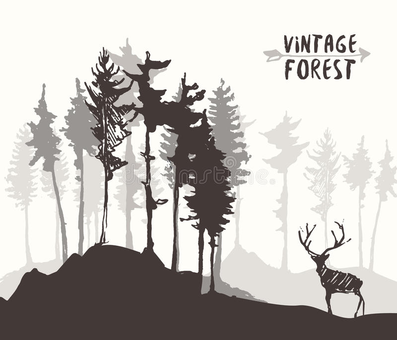 how to draw forest on a map