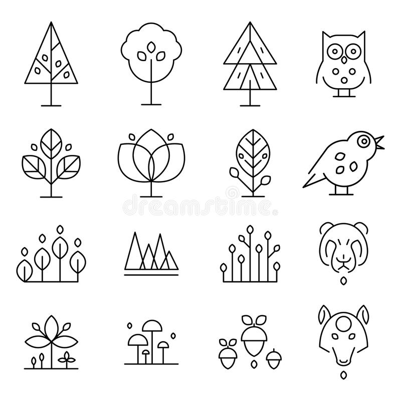 Forest Drawing Collection abstracto libre illustration