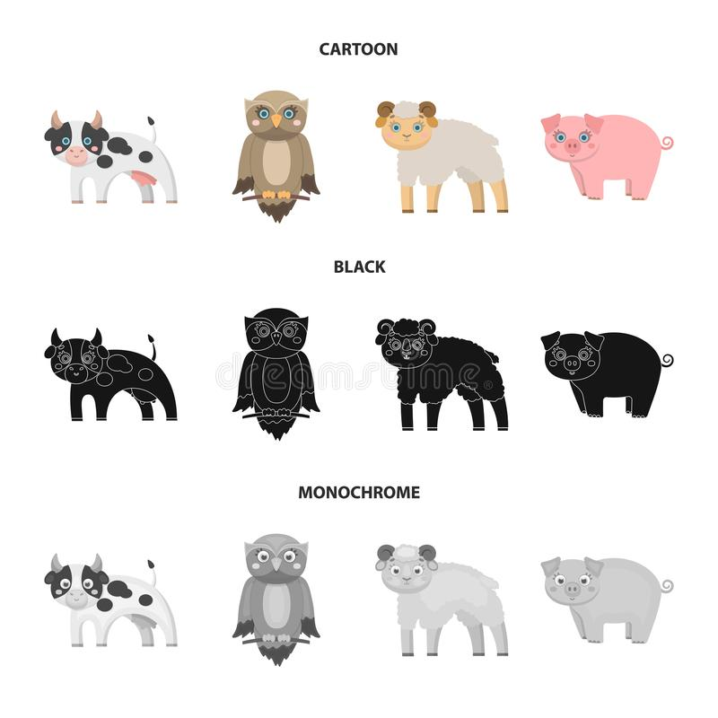 Forest, ecology, toys and other web icon in cartoon,black,monochrome style.Animals, farm, enterprises icons in set. Forest, ecology, toys and other icon in stock illustration