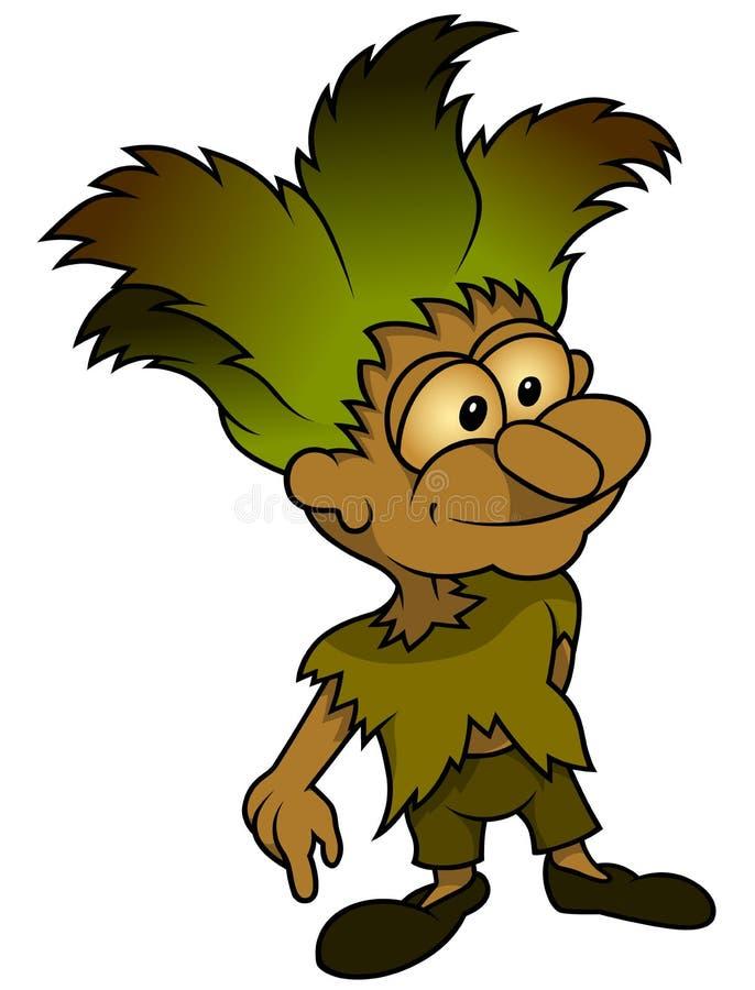 Forest Elf Standing royalty illustrazione gratis