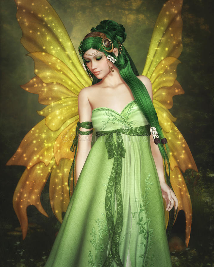 Forest Fairy royalty free illustration