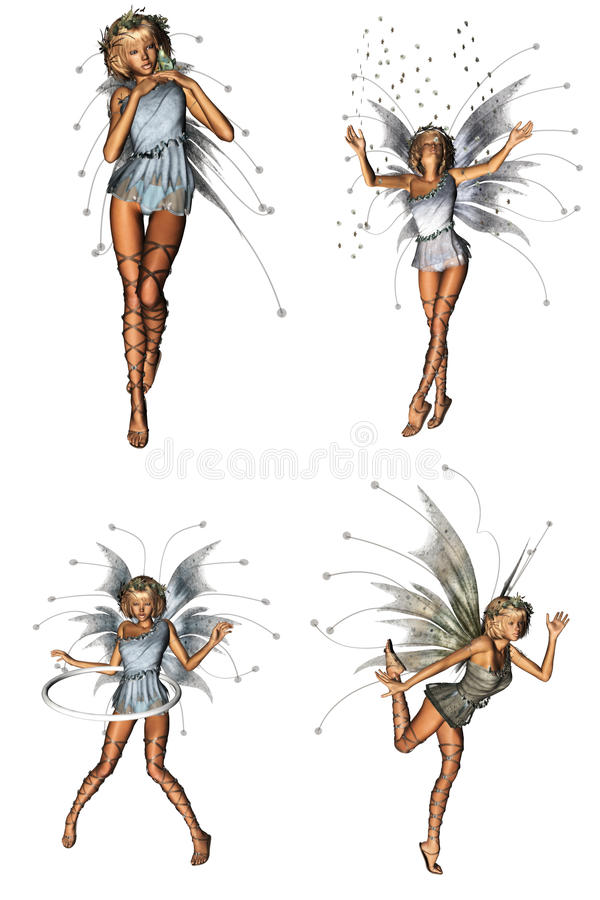 Forest Fairy Pack. A beautiful forest fairy pack - isolated on white royalty free illustration