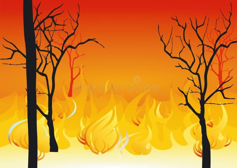 Forest fires. Illustration, danger fire stock illustration