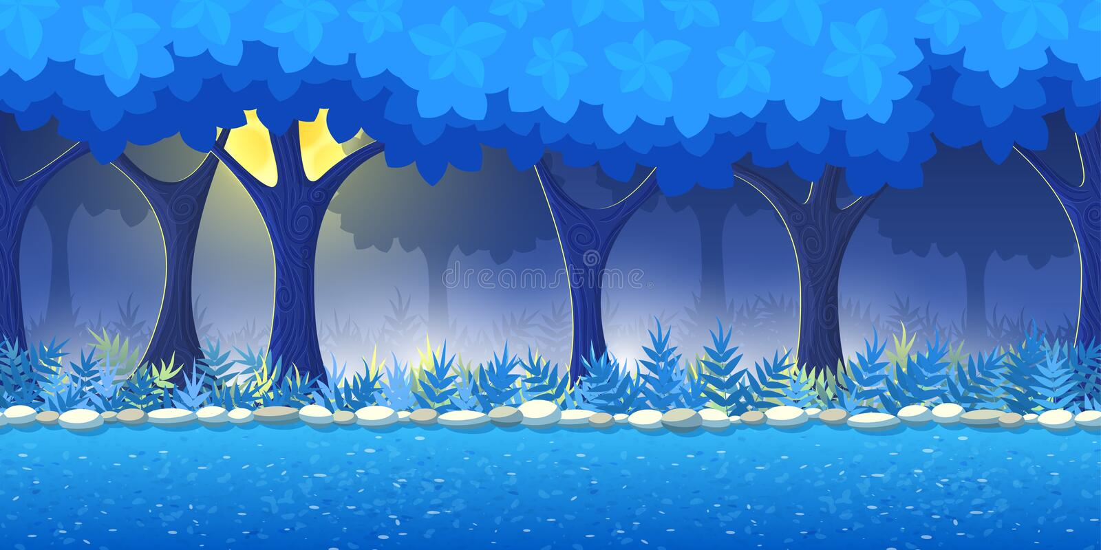 Forest Game Background royaltyfri illustrationer