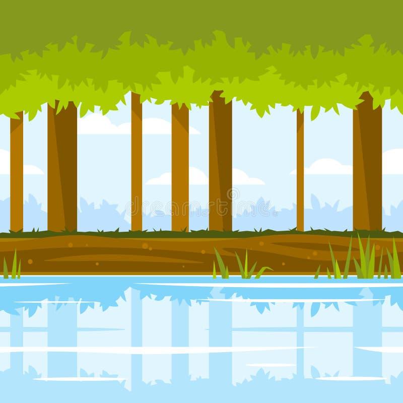 Forest Game Background ilustración del vector