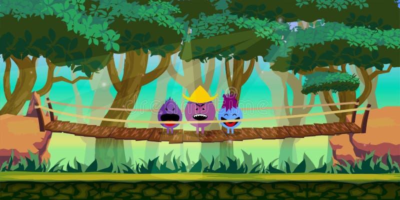 Forest Game Background illustrazione di stock