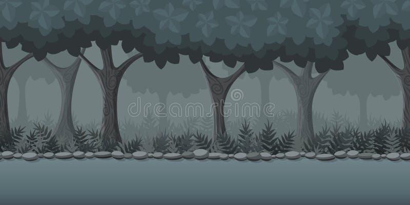 Forest Game Background stock illustratie