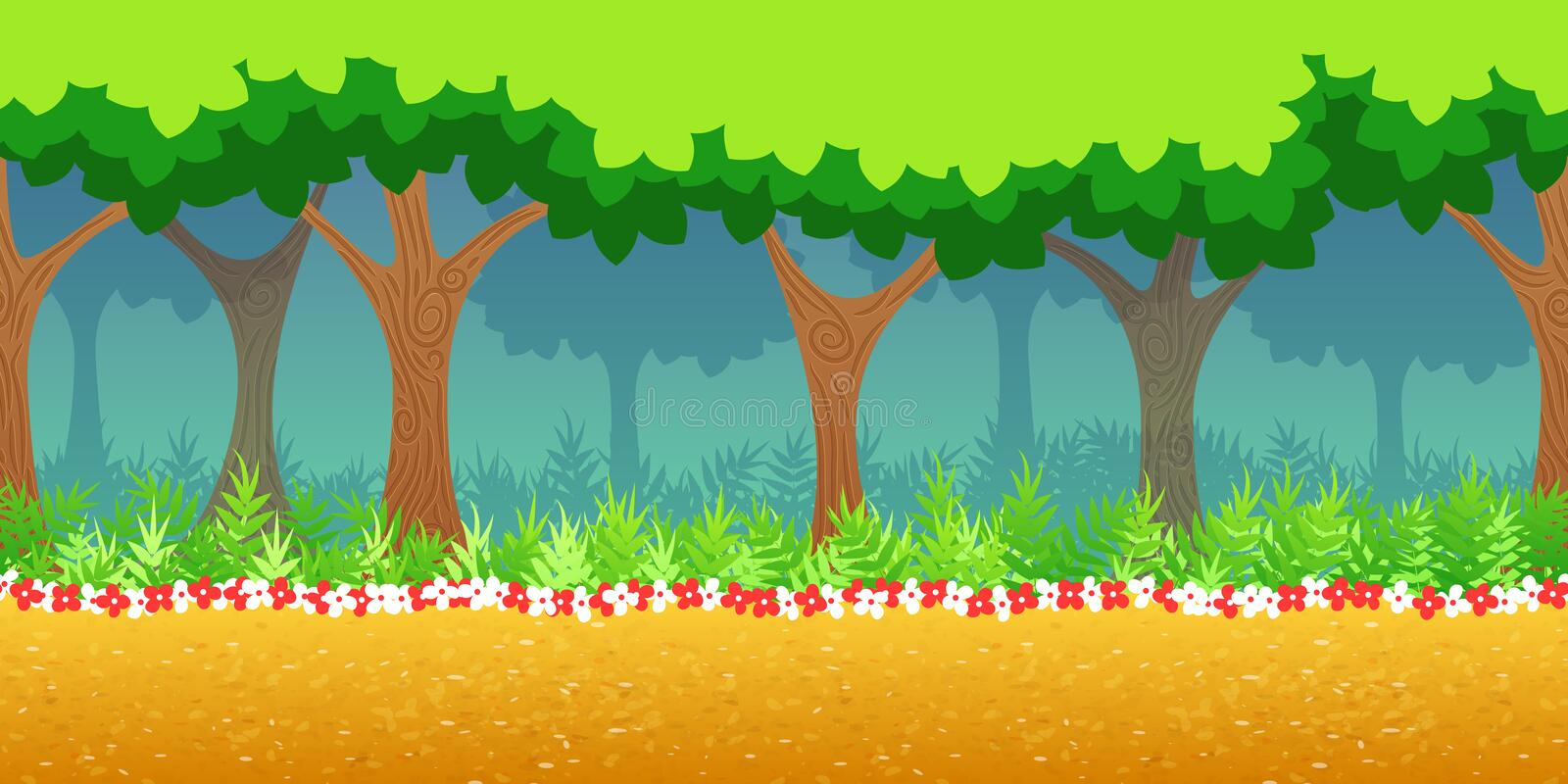 Forest Game Background royalty free illustration