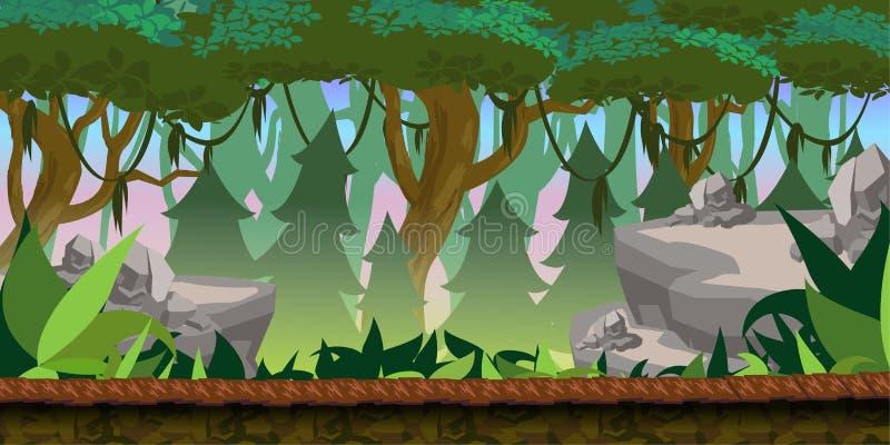 Forest Game Background vector illustration