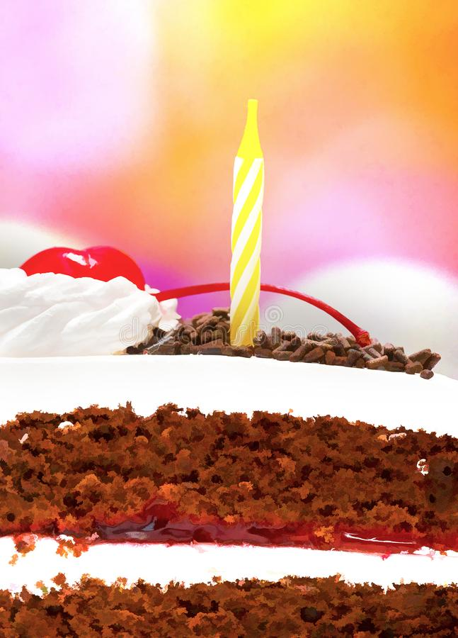 Forest Gateau Means Chocolate Cakes negro y cumpleaños foto de archivo