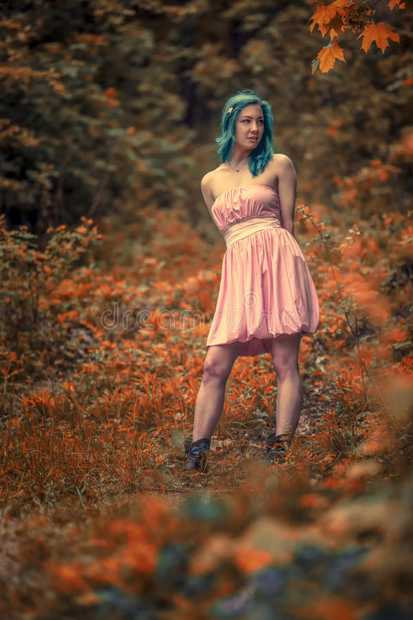 Forest girl royalty free stock image