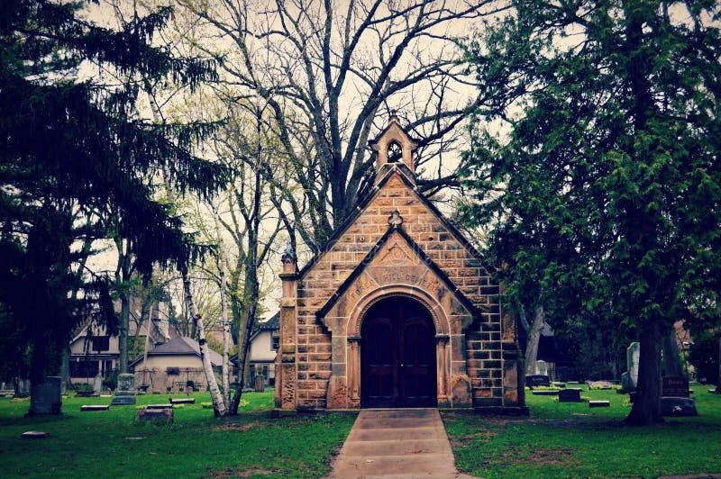 Forest Hill Cemetery Chapel lizenzfreies stockfoto