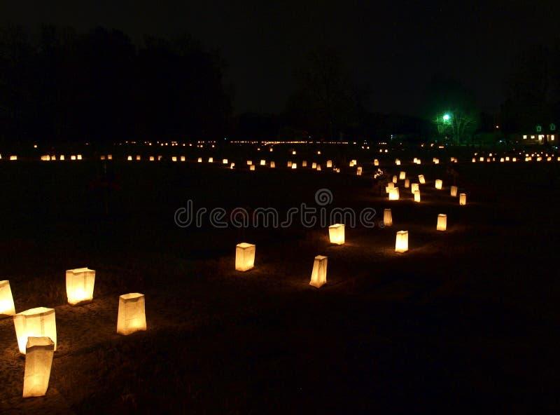 Forest Hill Luminaries lizenzfreie stockfotografie