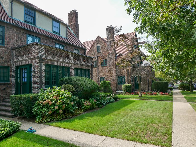 Forest Hills residential neighborhood royalty free stock photo