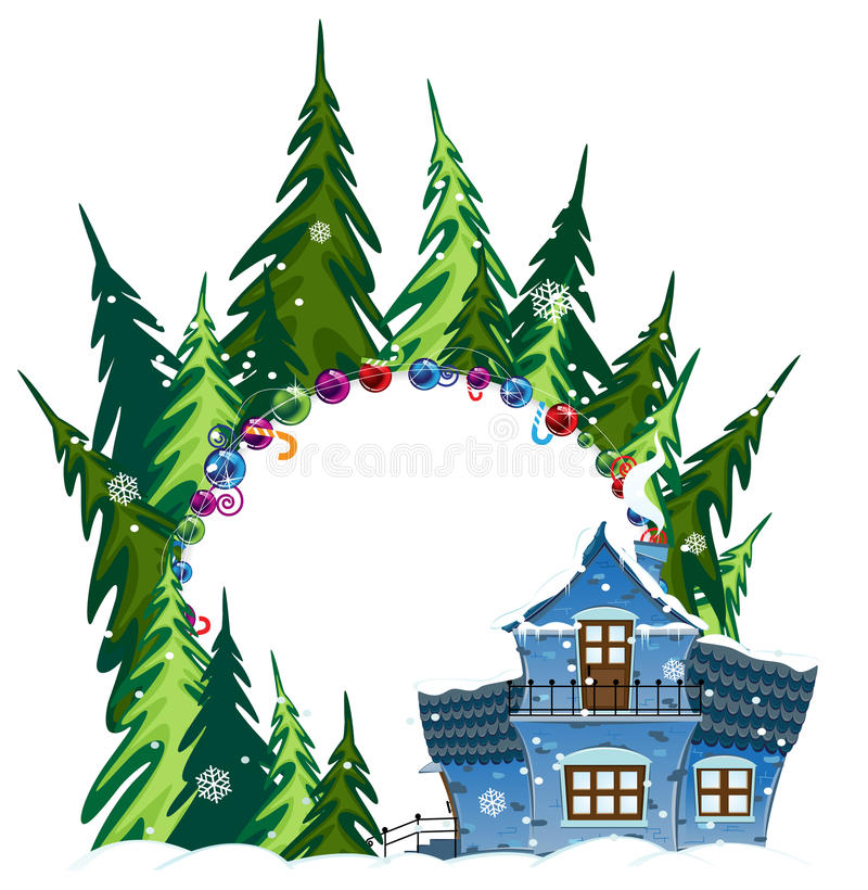 Download Forest Hotel stock vector. Image of cold, fairy, frozen - 27803006