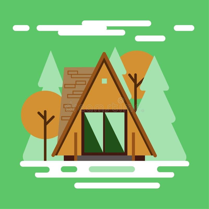 Forest House 2019 vector illustratie
