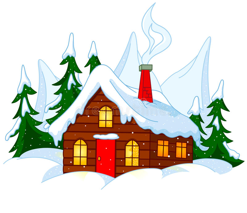 Forest House ilustración del vector