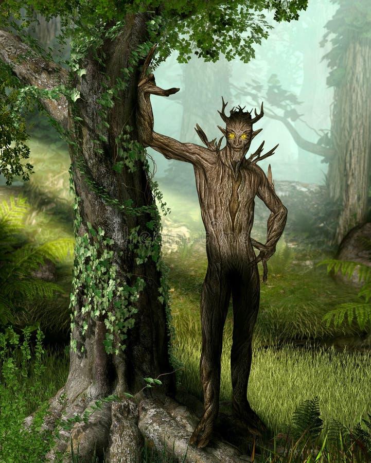 Forest King Elemental Nature Spirit royalty illustrazione gratis