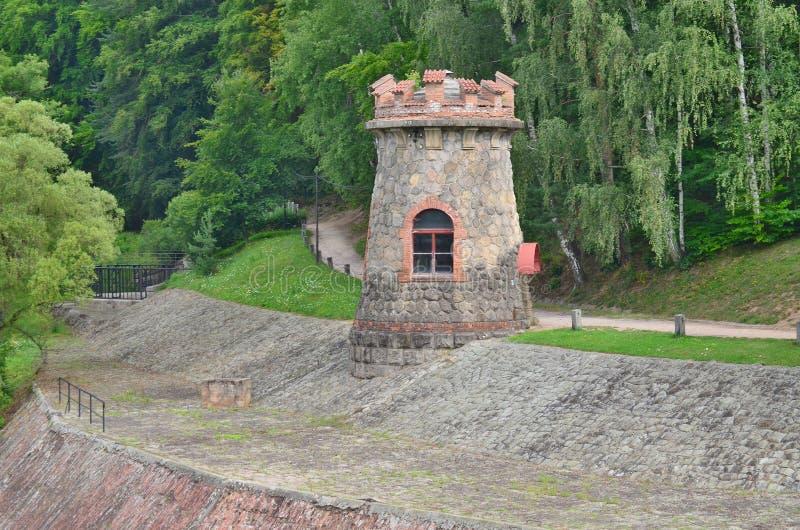 Forest Kingdom é uma represa do reservatório no rio Elbe construído dentro imagem de stock royalty free