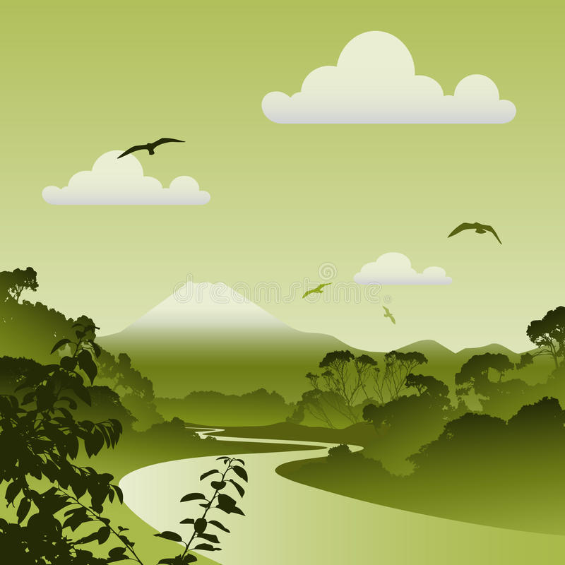 Forest Landscape vector illustration