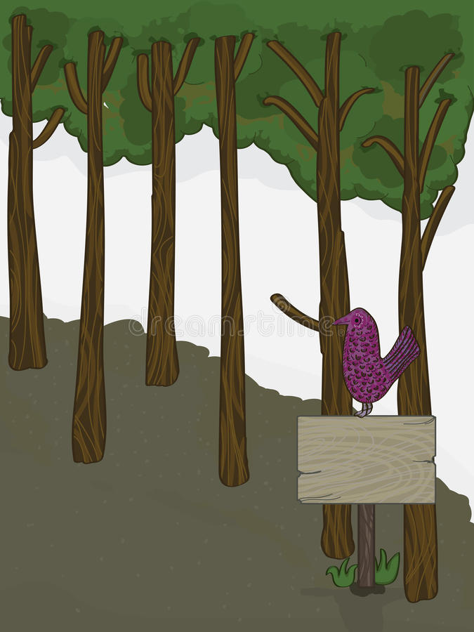 Download Forest Landscape Bird Board_eps Stock Vector - Image: 28289723