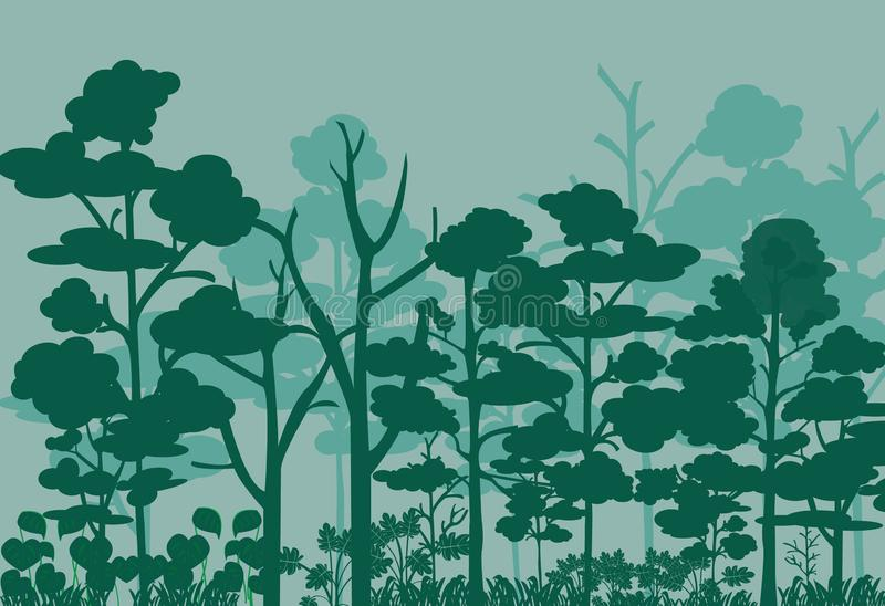 Forest landscape vector image vector illustration