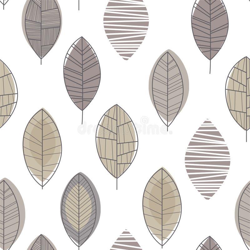 Forest Leaves Seamless Pattern, Gestaltungselement kann f?r Gewebe, die Tapete verwendet werden und Vektor-Illustration verpacken stock abbildung