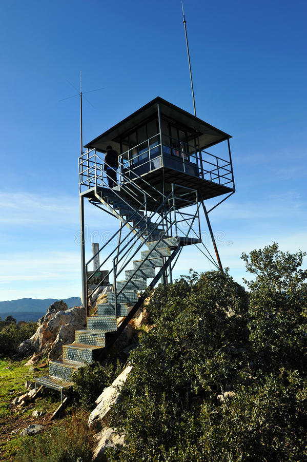 Free Forest Lookout Tower In Sierra Madrona, Ciudad Real Province, Spain Stock Images - 66562594