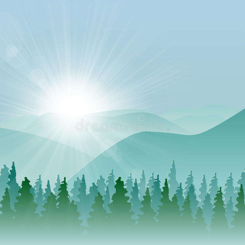 Forest Mountain Background royalty free illustration