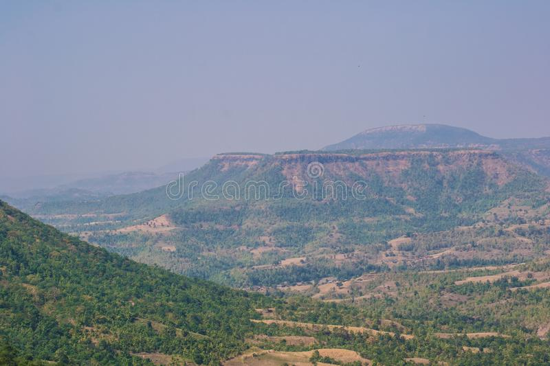 Forest Mountains Valley Landscape Dhar fotos de stock royalty free