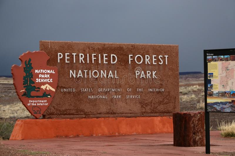 Forest National Park pétrifié en Arizona, Etats-Unis photos libres de droits