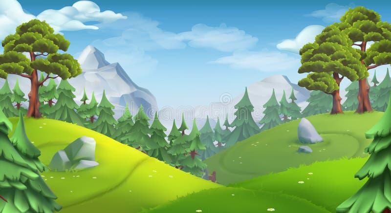 Forest. Nature landscape. vector background royalty free illustration